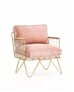 Croisette Velvet Armchair