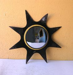 Your place to buy and sell all things handmade Industrial Mirrors, Industrial Interiors, Industrial Furniture, My Mirror, Wall Mirror, Outdoor Walls, Indoor Outdoor, Industrial Chic Style, Sunburst Mirror