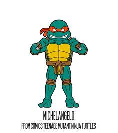 MICHELANGELO  http://herosandvillains.tumblr.com/post/12234758469 by TM