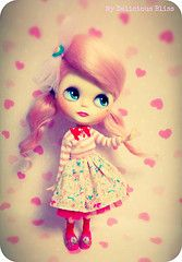 Positively Pink by My Delicious Bliss customs #blythe #pink