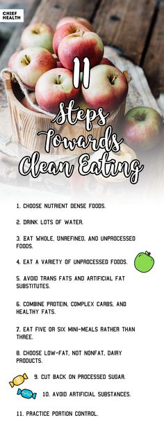 Infographic Clean Eating For Healthy Living And A Better Lifestyle