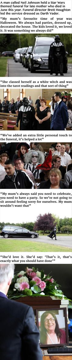 Funny pictures about Darth Vader Leads Funeral For Badass Grandmother. Oh, and cool pics about Darth Vader Leads Funeral For Badass Grandmother. Also, Darth Vader Leads Funeral For Badass Grandmother photos. Faith In Humanity Restored, Good People, Amazing People, Best Funny Pictures, Make Me Smile, In This World, Cool Photos, Fun Facts, Humor