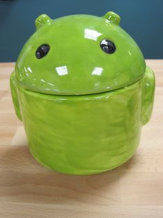 Large Android Ceramic Jar by ColorMeClayful on Etsy, $22.00