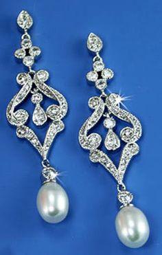 1.58CT IJ - SI2 DIAMOND PEARL 14K HALLMARKED GOLD WEDDING EARRINGS CERTIFIED #CARATWORLD #Journey