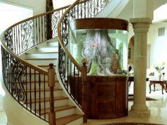 aquarium eirichten design atmosphäre einrichtungsbeispiele wandgestaltung weißes foyer
