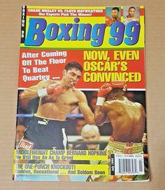 BOXING 99 Magazine OSCAR DE LA HOYA beats IKE QUARTEY 1999 Bernard Hopkins
