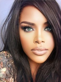 Most Beautiful Eyes, Gorgeous Women, Beautiful People, Natural Hair Styles For Black Women, Black Makeup, Coffee Girl, Actrices Hollywood, Model Face, Flawless Face