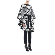 Alexander McQueen Felted Naive Pagan Jacquard Cape