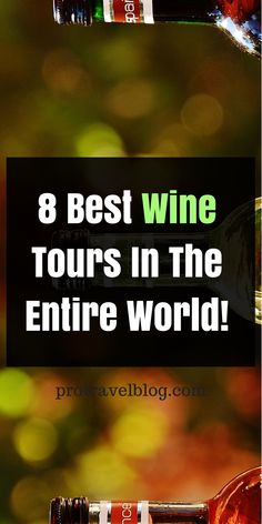 If you love wine, you will want to check out these 8 best wine tour destinations in the world. They are renowned for their wines and wine tours and offer the best wine tasting imaginable. Click here to check them out!