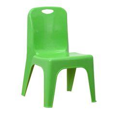 "Flash Furniture 11"" Plastic Classroom Stackable School Chair Green #FlashFurniture"