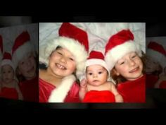 My girls on Lidia's first Christmas.