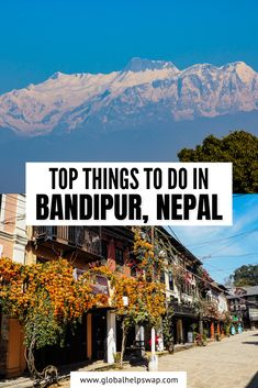 If you are traveling between Kathmandu and Pokhara by road then we highly recommend that you break up your journey in the beautiful town of Bandipur. It is one of the prettiest towns in Nepal and there are plenty of things to do in Bandipur to keep you entertained for a few days. Town of Bandipur | things to do in Bandipur | Visit Thani Mai Temple | Trekking in Bandipur | Bandipur Hotels | Paragliding in Bandipur | #nepal #travelnepal #Visitasia #VisitNepal #explorenepal #wonderlust #Bandipur Travel Nepal, Bali Travel, India Travel, Japan Travel, Best Travel Guides, Travel Tips, Travel Destinations, China Travel, Bhutan