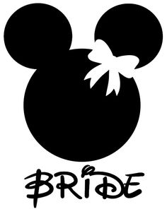 Personalized Minnie Bride Iron On. $7.00, via Etsy. I'm getting these for us!!! LOVE!!