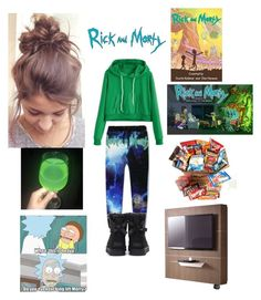 """binge watching Rick and Morty"" by yoitsdd ❤ liked on Polyvore featuring WithChic, UGG and Pacini & Cappellini"