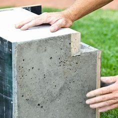 HOME DZINE Garden Ideas   Build a concrete and wood garden bench