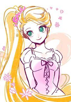 Cute Disney Drawings, Disney Princess Drawings, Disney Princess Art, Princess Cartoon, Art Drawings Sketches Simple, Disney Fan Art, Cute Drawings, Disney Anime Style, Chibi Disney