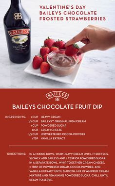 Thinking of making chocolate covered strawberries? Make this Valentine's Day even better with our DIY chocolate fluff recipe. Not only is it super easy, it's also a great way to spike your dessert with Baileys™!