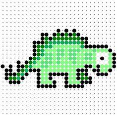 Another Cute Stegosaurus Perler Bead Pattern