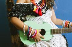 Hola!!! Colours good enough to eat!!  @JacquesSienna original tassel #necklaces and #bracelets #kidsstyle #kidsblog