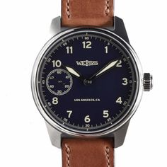 LA's Weiss Watches new limited edition Dark Blue Field Watch. Another great style from the American watchmaker.