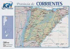 MapasBlog: Mapa da província de Corrientes - Argentina
