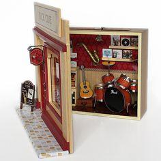 Diy mini doll house 1:12 handmade small dollhouse model house assembled lamp LED