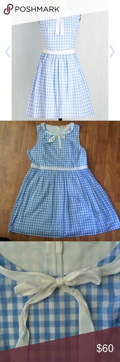 In the Picnic of Time Dress, 2x Rock a summer picnic or barbecue in this adorable little dress. Perfect for channeling your inner Dorothy, it's sure to make you feel sweet, kind, and all around lovely! This dress has only been worn once, so it is in like new condition! I absolutely love this dress, but it just doesn't fit me quite right. Hoping to pass this beauty on to someone who will cherish it more than me! ModCloth Dresses