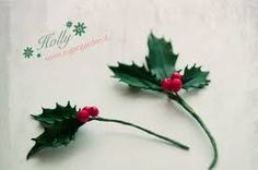 Image result for fondant holly leaves