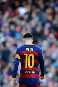 Lionel Messi of FC Barcelona looks on during the La Liga match between FC Barcelona and Getafe CF at Camp Nou on March 12, 2016 in Barcelona
