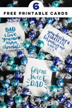 If your dad (or husband) is a lover of chocolate- these cards are for you. Just package them up with some chocolate truffles and you'll be set. Handmade Father's Day Gifts, Diy Father's Day Gifts, Diy Gifts For Kids, Father's Day Diy, Free Printable Art, Free Printables, Party Printables, Kid Friendly Art, Make Your Own Card