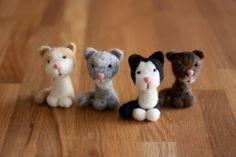 needle-felted kitty | Needle Felted Cat Custom Kitty Portrait by MiloandBen on Etsy, $37.00