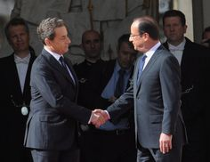 Whereas predecessor Nicolas Sarkozy (left) annoyed the French with his...
