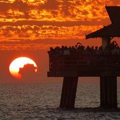 Breathtaking sunset off Naples Pier. Naples, FL.  Photo by IG user travelingjones