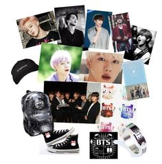 """""""BTS mood board"""" by bexella ❤ liked on Polyvore featuring art"""