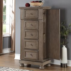 Shop for the New Classic Allegra 5 Drawer Lingerie Swivel Chest at Darvin Furniture - Your Orland Park, Chicago, IL Furniture & Mattress Store New Classic Furniture, New Furniture, Storage Drawers, Tall Cabinet Storage, Bedroom Cabinets, Jewelry Cabinet, Lingerie Drawer, Queen Bedroom, Dresser As Nightstand