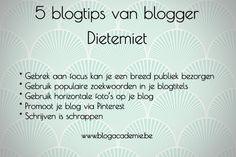 Ik interviewde blogger Dietemiet voor mijn blog www.missbliss.be. Deze 5 blogtips wil ik graag met jullie delen.  #blogtips  #blogger #blogworkshops