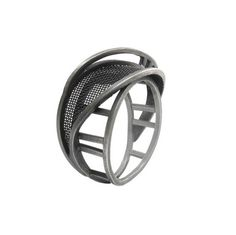 Ring by CAITIE SELLERS 'Caitie's observations of power lines, overpasses, and lampposts lyrically rendered in silver and steel are beautiful, original, and delightful to wear.'