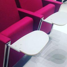 Our newest J30 feat. Anti-panic writing surface #sediasystems #antipanic #j30 #auditorium #design #fixedseating #compactseating #madeinusa #jamesmorrow #tabletarm #NeoCon15 #NeoConography #ISYatNeoCon #IDneocon
