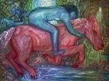 LIFE IN A RUSH Snorting Horse directs its stamps with furious gallop lead hoofs through tunnels and caves determine to reach. It splashes on paths … Caves, Art World, Stamps, My Arts, Horses, Painting, Life, Seals, Painting Art