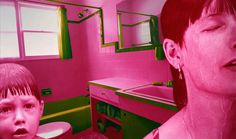 Sandy Skoglund creates collages using photos of New York in her series, True Fiction Two. Sandy Skoglund, Create Collage, Interactive Installation, Pink And Green, Photoshop, New York, Photography, Fiction, Display Block