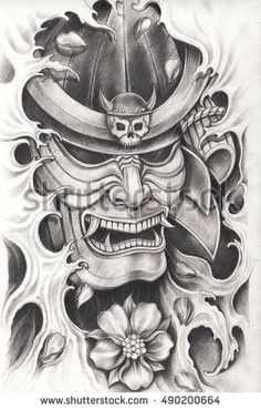 Find Samurai Warrior Tattoo Designhand Pencil Drawing stock images in HD and millions of other royalty-free stock photos, illustrations and vectors in the Shutterstock collection. Thousands of new, high-quality pictures added every day. Samurai Maske Tattoo, Hannya Maske Tattoo, Samurai Warrior Tattoo, Warrior Tattoos, Japanese Mask Tattoo, Japanese Tattoo Designs, Japanese Sleeve Tattoos, Tattoo Designs Men, Japanese Warrior Tattoo