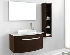 """The Anabelle bathroom vanity set features an elegant Euro-modern design with quality craftsmanship. The vanity is entirely constructed from solid wood laminate and finished with grade """"A"""" veneer. The Anabelle is equipped with BLUM soft closing drawer glides and a durable quartzite or white stone countertop. This vanity set is a perfect centerpiece to any contemporary bathroom."""