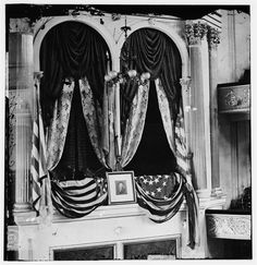 *ABRAHAM LINCOLN's ~ Balcony seat at Fords Theater where he was shot by John Wilkes Booth! He died the next day on April 15, 1865.