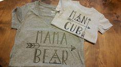 Mama Bear & Man Cub Shirt set by SouthernBlingBowtiqu on Etsy