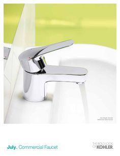 Kohler July Commercial Flyer Commercial Faucets, Kohler Faucet, Cast Iron Bath, Chrome Plating, Make It Simple, Powder Room, Powder Rooms, Toilet, Toilets