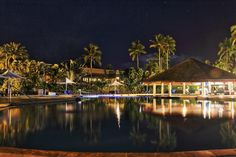 Our beautiful night view of the Resort