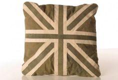 Re-Purposed Vintage Canvas Union Jack Pillow