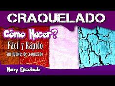 Plato con decoupage y craquelado caseros y foil -Handmade Decoupage Crackle Foil Plate - YouTube