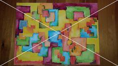 "9: ""Geometrische Harmonie""   Kunsstechnik: #Aquarell   Maße: 40,3x29,3"