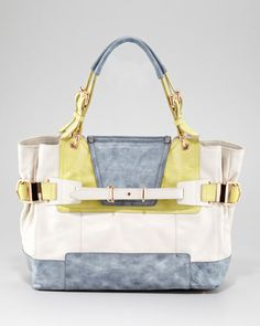 Cally Colorblock Leather Satchel by Kooba at Neiman Marcus.